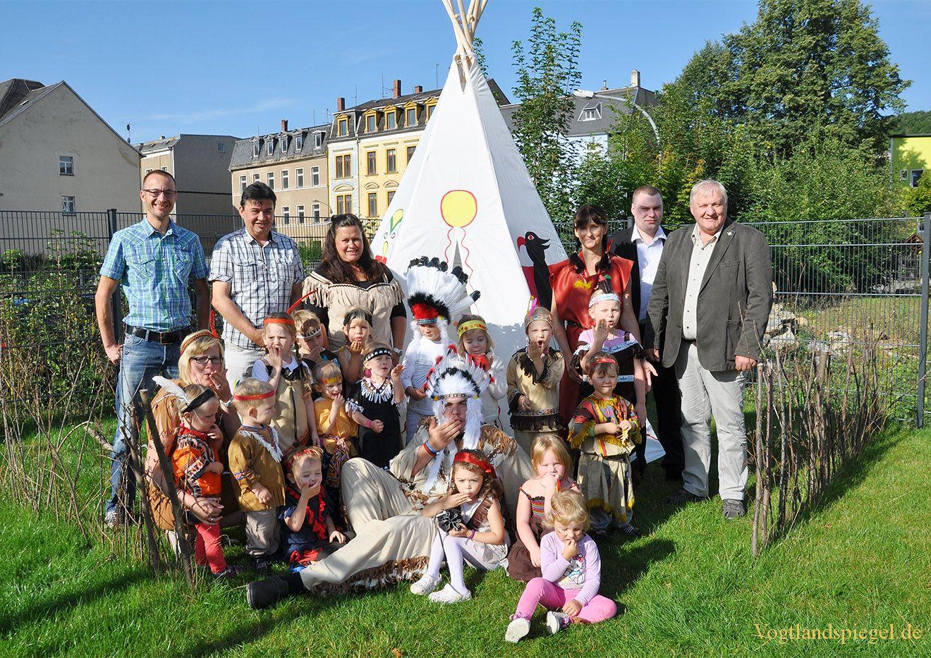 Vogtlandspiegel: Kleine Indianer in Greizer Neustadt gesichtet